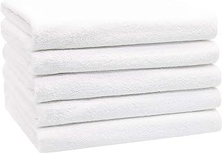 ZOLLNER Juego de 5 Toallas de Ducha de algodón, 70x140 cm, Blancas