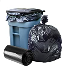 """Plasticplace 65 Gallon Trash Bags │ 2.7 Mil │ Black Heavy Duty Garbage Can Liners │ 50"""" x 48"""" (25 Count)"""