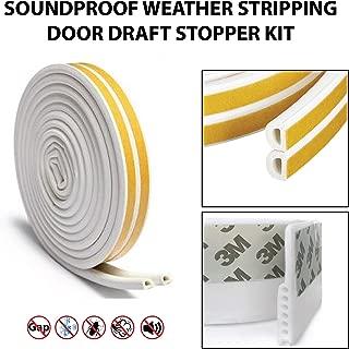 YOUR HOUSE INC - Door Draft Stopper – High Performance Silicone Door Sweep + 16.5ft Weather Stripping Seal | Draft Blocker for Under Door Seal Gap | Interior & Exterior Doors or Windows |