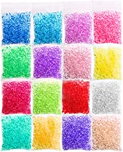 Acerich 16 Pack Fishbowl Beads, Clear Vase Filler Beads Crunchy Slime Beads for Homemade Slime, Arts Crafts, Party Decoration, Wedding and More
