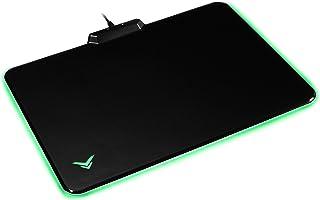 Amazon Basics - Alfombrilla rígida de ratón para videojuegos con efectos de iluminación LED
