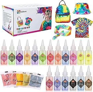 comprar comparacion Gifort Tie Dye Kit, Textiles de Tela 18 piezas Colores Vibrantes Pinturas Ropa Tinte Graffiti para Proyectos de Bricolaje ...