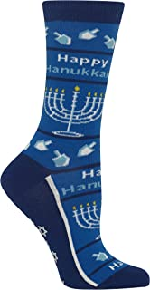 Hot Sox Women's Happy Hanukkah Non Skid Socks