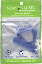 NoMo Nausea Band Blue Small: Instant Motion Sickness Aromatherapy Anti Nausea Band for Small Adult Wrists 3.5-6.2