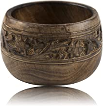 """Beautiful Handmade 5 x 3"""" Decorative Mango Wood Snack Serving Bowl For Dry Fruits Chips Coffee Table Countertop Display Ke..."""