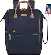 Knapsack for Women 15.6 Laptop Backpack Desanissy Backpack Thick Pad Straps Waterproof Nylon/Microfiber Casual Bag for Work Tote/Weekender Handbags/Diaper Bag/rucksacks 15.6inch blue Desanissy-F