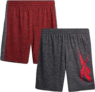 Reebok Boys' Active Shorts - Mesh Basketball Shorts (2 Pack)