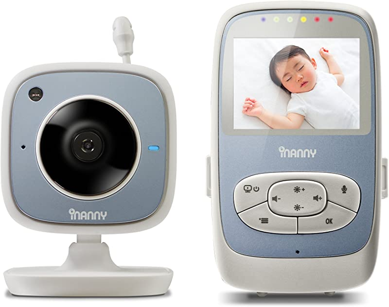 INanny NM288 Digital Video Baby Monitor With 2 4 Inch LCD Display And Wi Fi Viewing