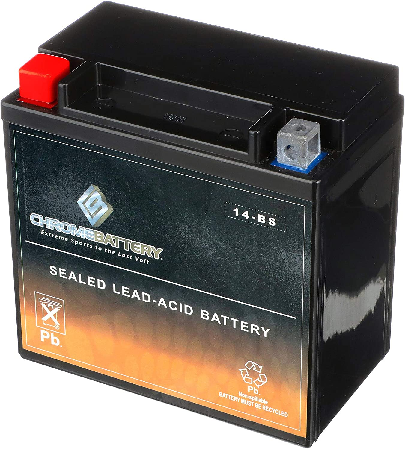 YTX14-BS ATV Battery- Rechargeable, Factory sealed, Replacement AGM Battery