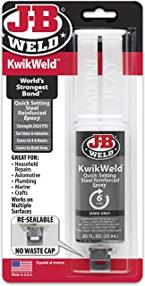 J-B Weld 50176 KwikWeld Steel Reinforced Epoxy Syringe - Dark Grey - 25 ml