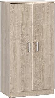 Meuble à chaussures à deux portes, meuble auxiliaire, modèle de base, fini en chêne canadien, dimensions : 55 cm (largeur)...