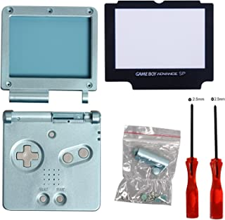 GBA SP Gameboy Advance SP Full Housing Case Shell with Screwdriver-Light Blue