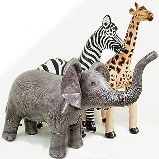 Jet Creations Safari 3 Pack Giraffe Zebra Elephant Great for Pool, Party Decoration, an-GZE, Multi
