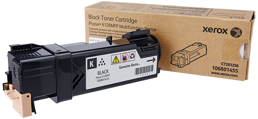 Genuine Xerox Black Toner Cartridge for the Xerox Phaser 6128MFP, 106R01455 lre00351928
