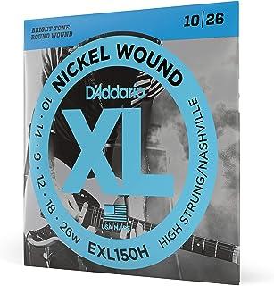 D'Addario EXL150H Cordes en nickel pour guitare électrique High-Strung/Nashville Tuning 10-26