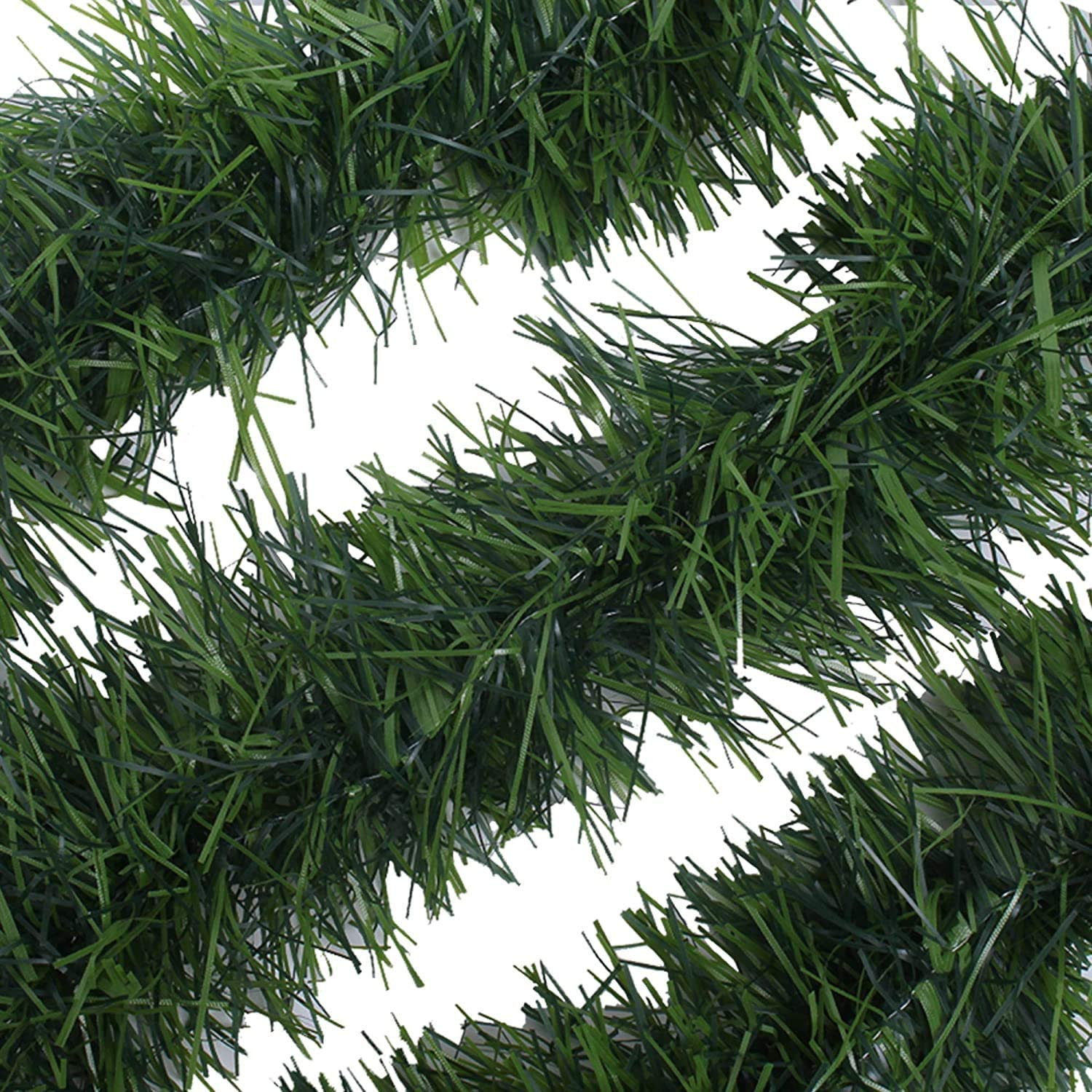 Non-Lit Soft Green Holiday Decor for Outdoor or Indoor Use Premium Quality Home Garden Artificial Greenery or Wedding Party Decorations. WDSF 50-Foot Soft Green Garland for Christmas Decorations