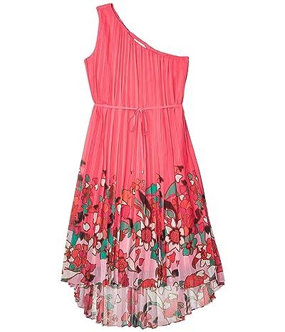 Ted Baker Ive Pinata Dip Hem One Shoulder Maxi Dress (Bright Pink) Women