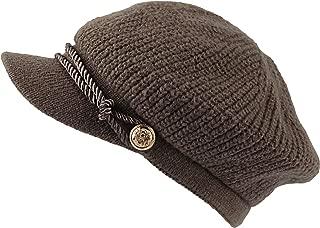 WITHMOONS Women Winter Knit Newsboy Caps Lady Warm Baker Beanie Hat SLG1226