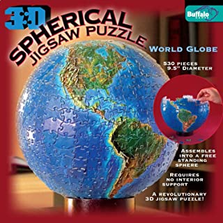 3D Spherical Puzzle - World Globe