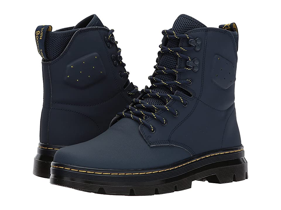 Dr. Martens Quinton Tall Boot (Indigo Ajax/Indigo 19-4024 Tpx Synthetic Nubuck) Boots