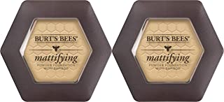 Burt's Bees 100% Natural Origin Mattifying Powder Foundation, Bare - 0.3 Ounce (Pack of 2)