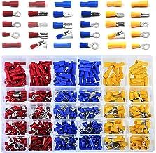 Conectores Eléctricos, 480 piezas Terminales Faston Aislados Eléctricamente, Se Incluyen Anillo, Bala, Pala, Terminal de E...