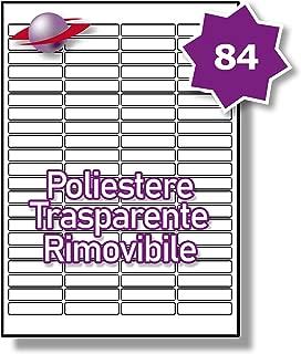 10 Fogli 21 Par Foglio Label Planet/® Etichette A4 Crema Colorate su Carta Opaca per la Stampa a Getto dInchiostro e Laser 63.5 x 38.1mm LP21//63 CCR. 210 Etichette