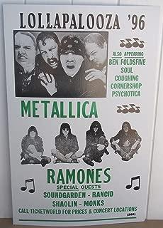 Vintage Lollapalooza 1996 Concert Poster Ramones Metallica