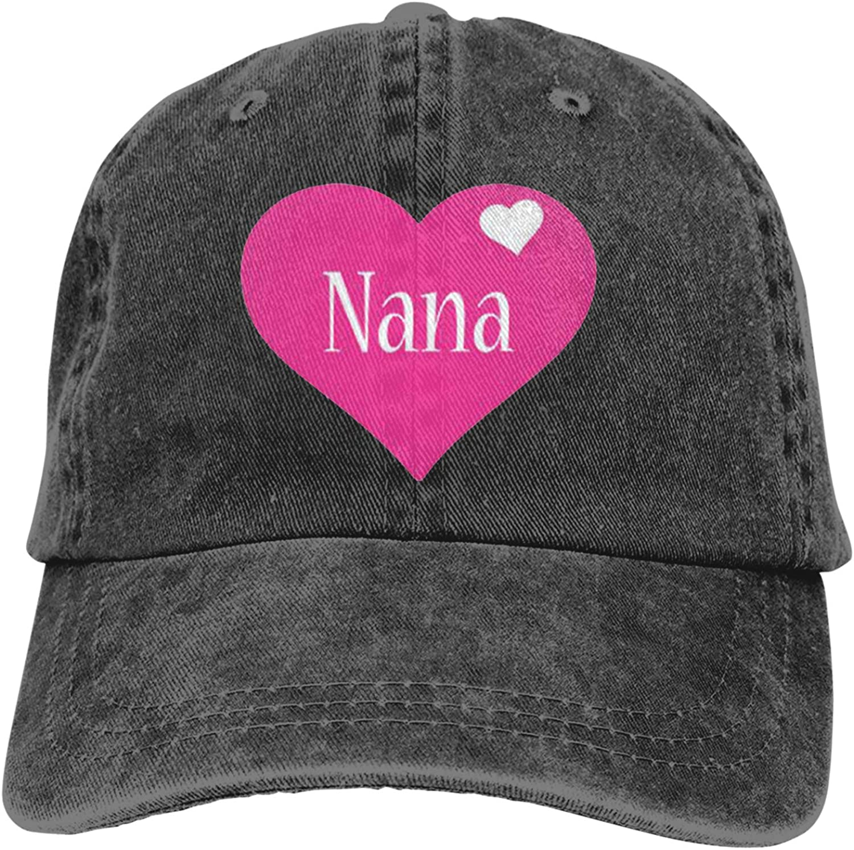 Denim Cap My Nana Baseball Dad Cap Classic Adjustable Casual Sports for Men Women Hats