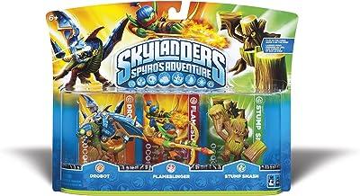 Skylanders Spyro's Adventure Triple Character Pack (Drobot, Flameslinger, Stump Smash)