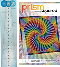 Bundle of Phillips Fiber Art 10 Degree Wedge Ruler, and Prism Squared Quilt Pattern, Finished Size 59