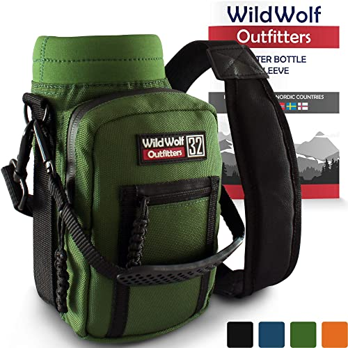 Wild Wolf Outfitters -  1 Best Water Bottle Holder for 32 oz Bottles - Carry c13551076e136