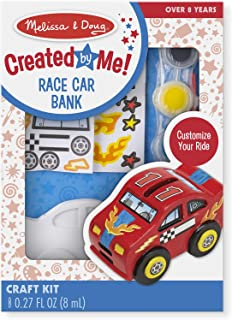 Melissa & Doug Decorate-Your-Own Race Car Bank Craft Kit (Great Gift for Girls and Boys - Best for 8, 9, 10, 11, 12 Year Olds and Up)