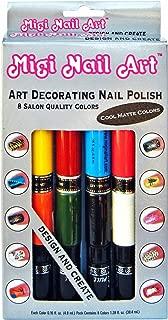 Migi Art Nail Polish and Pen Duo, Matte Color Set