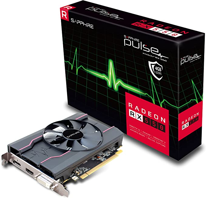 Sapphire Pulse Amd Radeon Rx550 4 Gb 128 Bit Gddr5 Memory Displayport Hdmi Dl Dvi D Pci Express Graphics Card Black Computers Accessories Amazon Com