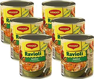MAGGI Gemüse-Ravioli in Tomatensauce: Teigtaschen in fruchtiger Sauce, vegetarisches Fertiggericht, leckeres Camping-Esse...