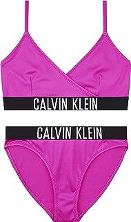 Calvin Klein Crossover Triangle Bikini Set Copricostume Bambina