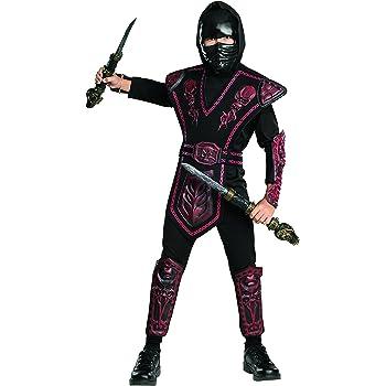 Disfraz de Ninja Rojo enmascarado para niño, infantil 5-7 años ...