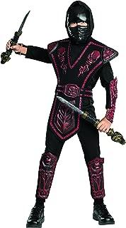 Rubie's Red Skull Warrior Ninja Child Costume, Medium, Black/Red