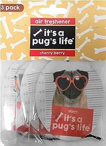 It s Pug s Life Car Air Freshener Pack  Pug Dog Airfreshener  Cherry Berry