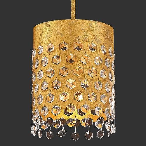 Minka Metropolitan N7651-705 Kingsmont - One Light Pendant, Glitz Gold Leaf Finish