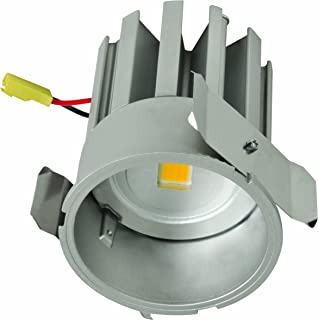 White, 6 Square NO CAN Needed Halo HLB6S099FS1EMWR Ultra Thin LED Series with Remote Driver//Junction Box