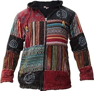 Shopoholic Fashion Unisex Patchwork Festival Hippie Hoodie Jacket