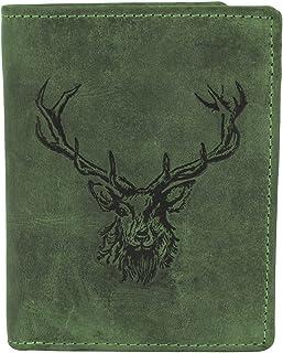 Greenburry Vintage Monedero diseño Ciervo piel 9,5 cm