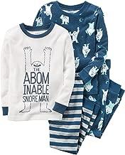 Carter's 12m 10 4 piezas abominable ronquido hombre pijama para bebé-niños 12 meses Azul