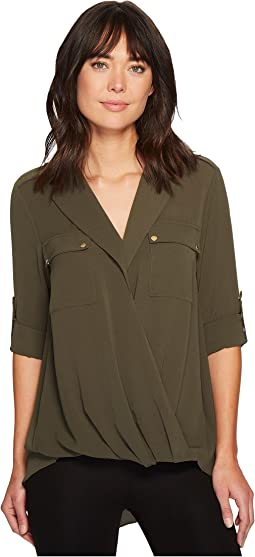 MICHAEL Michael Kors - Draped Safari Top
