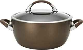 Circulon 82769 Symmetry Hard Anodized Nonstick Dish/Casserole Pan with Lid, 5.5 Quart, Chocolate Brown