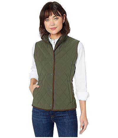 Vineyard Vines Quilted Vest (Dark Moss) Women