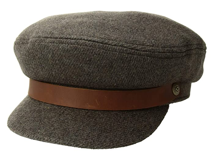 Men's Vintage Style Hats Brixton Fiddler BrownGrey Traditional Hats $42.00 AT vintagedancer.com
