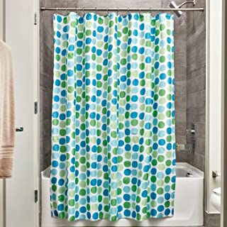 InterDesign Fabric Doodle Shower Curtain for Master, Guest, Kids', College Dorm Bathroom 72 x 72 Inches 37820